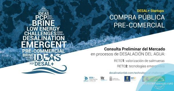 Adquirir tecnología innovadora en desalación del agua, objetivo de la iniciativa pública 'DESAL+ Startups'