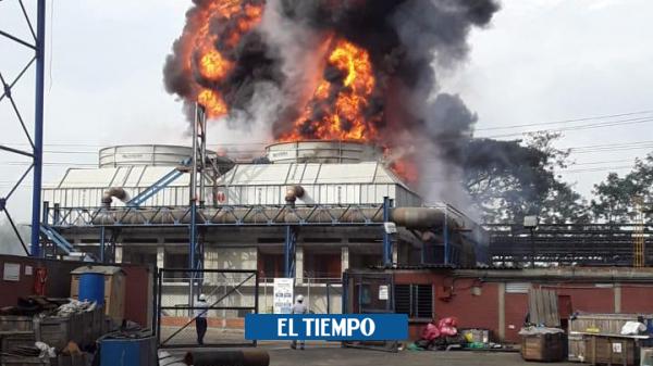 Emergencia: Gigantesco incendio en el Ingenio del Cauca - Cali - Colombia