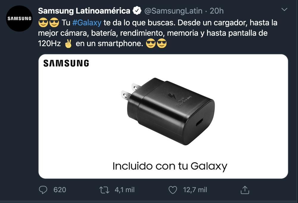 Samsung borró publicaciones donde se burlaba de Apple por no agregar cargador, tras la probabilidad de que el Galaxy S21 se venda de la misma manera
