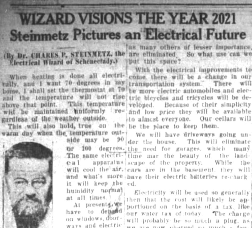 ¿Qué pasará en 2021? Esto es lo que predijo la gente en 1921