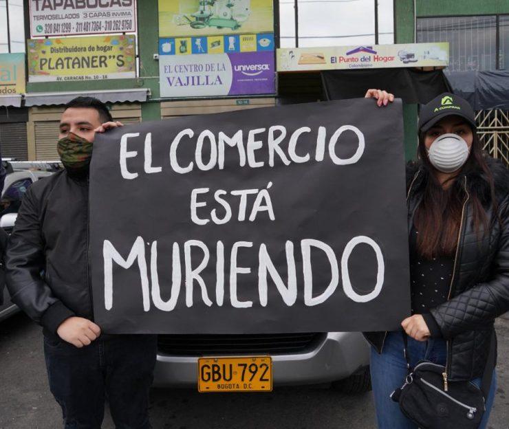 Comerciantes de Bogotá rechazan las nuevas restricciones | Economía