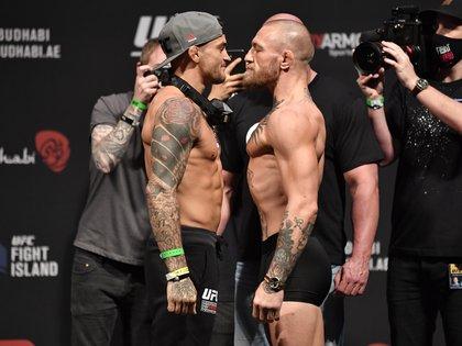 McGregor y Dustin Poirier se enfrentarán en Abu Dhabi en la estelar del UFC 257 (Foto: Reuters)