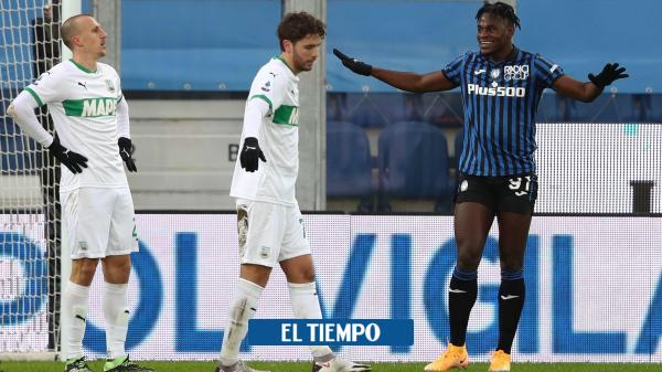 Duván Zapata y Luis Fernando Muriel anotaron en el triunfo 5-1 de Atalanta contra Sassuolo - Fútbol Colombiano - Deportes