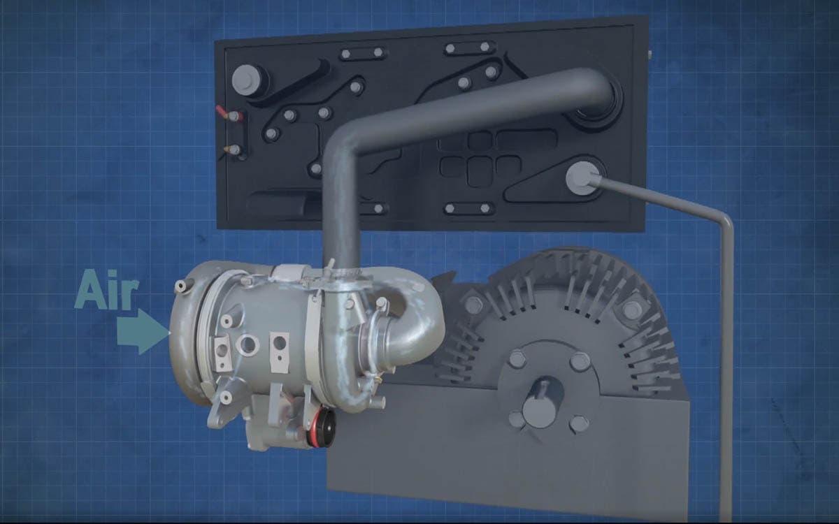 implementacion Turbo electrico hidrogeno garret