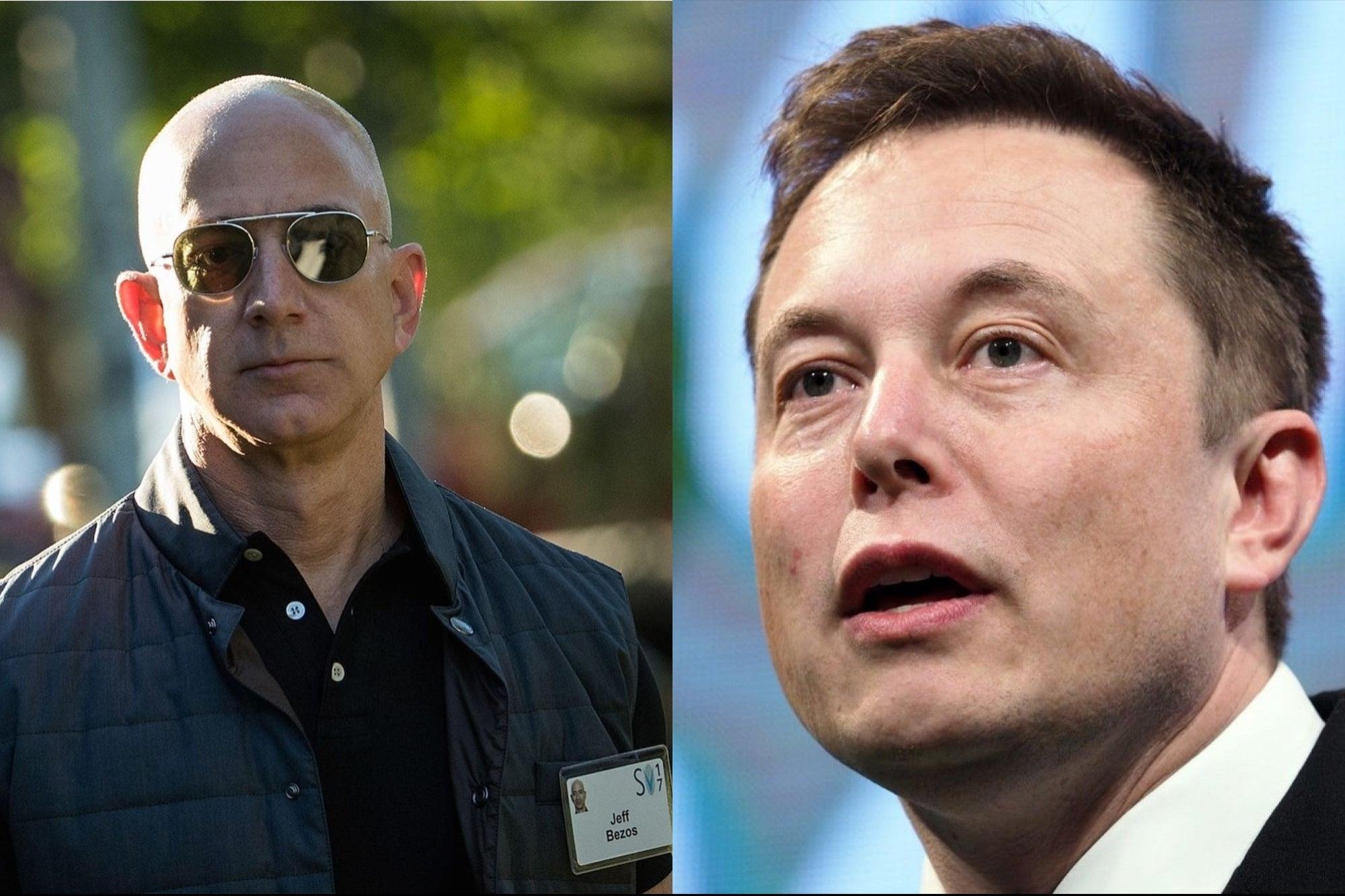 Jeff Bezos y Elon Musk rompieron récords de riqueza en 2020