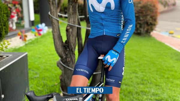Miguel Ángel Supermán López ya entrena con el uniforme del Movistar Team - Ciclismo - Deportes