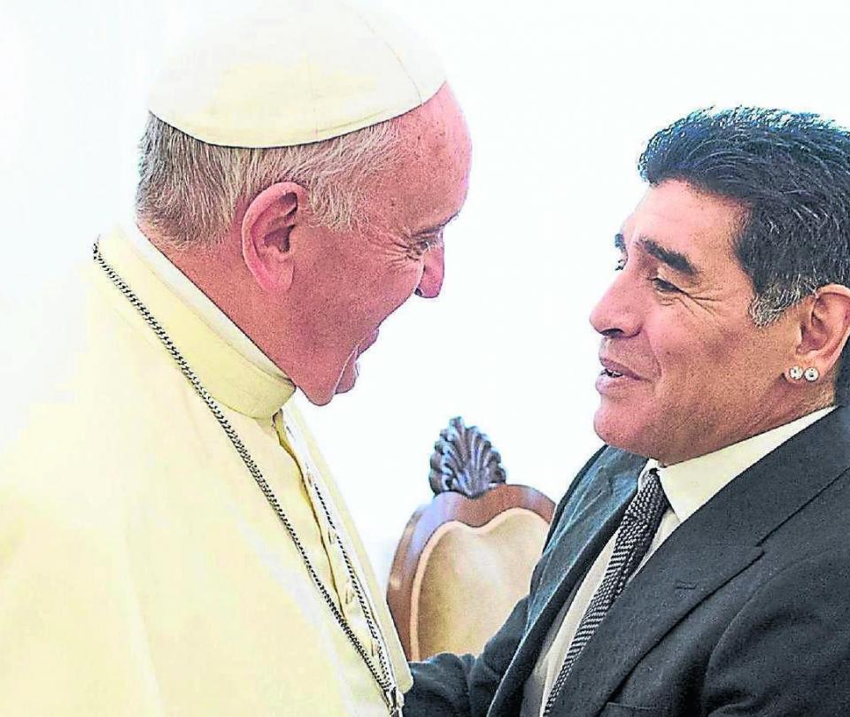 Papa Francisco recuerda cuando conoció Maradona, al que llama poeta - Fútbol Internacional - Deportes