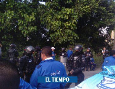 Plantón de conductores del MIO provoca trncón en Cali - Cali - Colombia