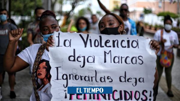 Protesta simbólica en Cali por asesinato de niñas en Guapi y Caldas - Cali - Colombia