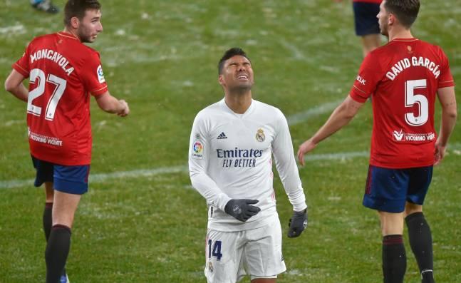 Real Madrid falla en su intento de asaltar el liderato tras empatar con Osasuna