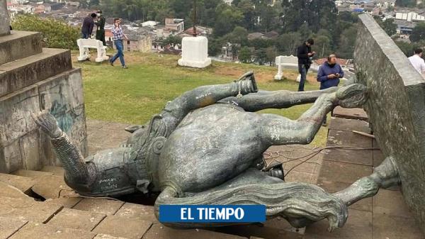 Retiran estatua de Sebastián de Belalcázar del cerro El morro - Otras Ciudades - Colombia
