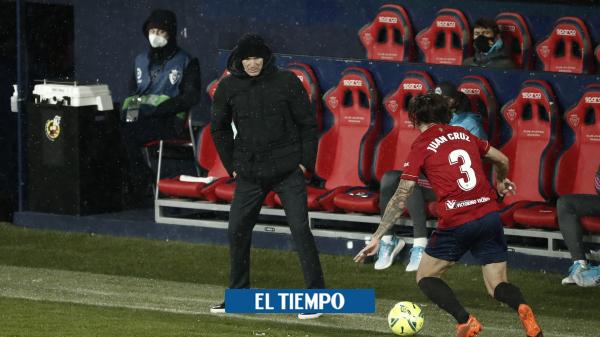 Zinedine Zidane se quejó y dijo que el partido Osasuna-real Madrid no debió jugarse - Fútbol Internacional - Deportes