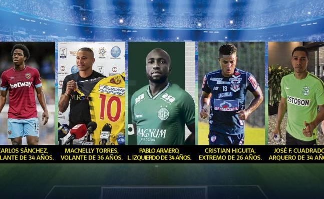 ¡Están en el aire! Los reconocidos jugadores colombianos que se encuentran sin contrato