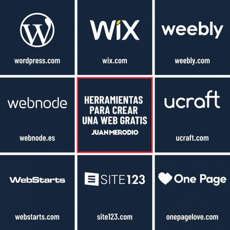 herramientas para crear una web (infografía)