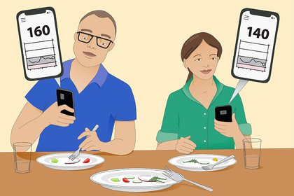 A new crop of digital health companies is using blood glucose monitors to transform the way we eat. Their pitch: Find the foods that are best for you by seeing how they impact your blood sugar levels. (Leann Johnson/The New York Times) -- NO SALES; FOR EDITORIAL USE ONLY WITH NYT STORY SCI-BLOOD-SUGAR-DIET BY ANAHAD O'CONNOR FOR FEB. 8, 2021. ALL OTHER USE PROHIBITED. --