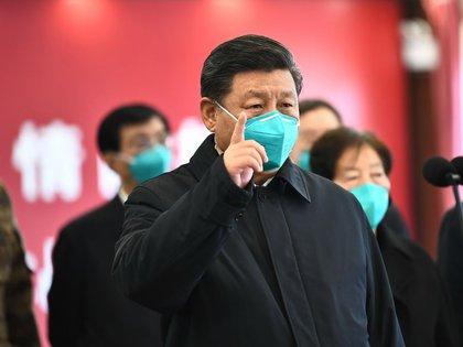 El presidente de China, Xi Jinping, durante una visita a Wuhan (XINHUA)