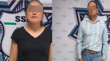 La regidora fue detenida junto con un presunto líder delictivo (Foto: SSPP)