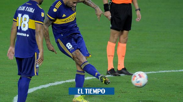 Edwin Cardona anota gol de tiro libre y salva a Boca en el 2-2 contra Gimnasia - Fútbol Internacional - Deportes