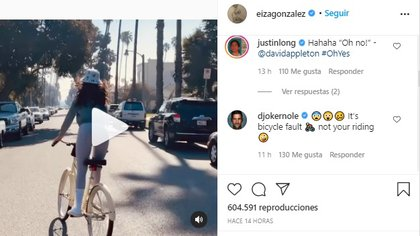 El tenista Novak Djokovic (@djokernole) comentó el video publicado por Eiza González (Foto: Instagram @eizagonzalez)