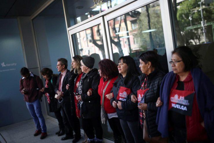 Entre la resistencia y la esperanza: la histórica huelga en Notimex, la agencia estatal de noticias de México, cumple un año