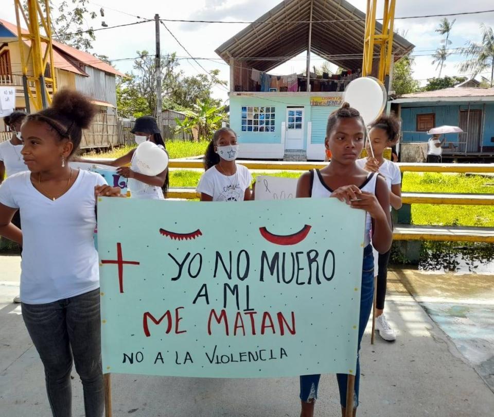 Habitantes de municipio de Nariño rechazan tres feminicidios - Otras Ciudades - Colombia