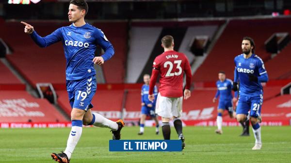 James Rodríguez anotó gol, Everton empató con el Manchester United - Fútbol Internacional - Deportes