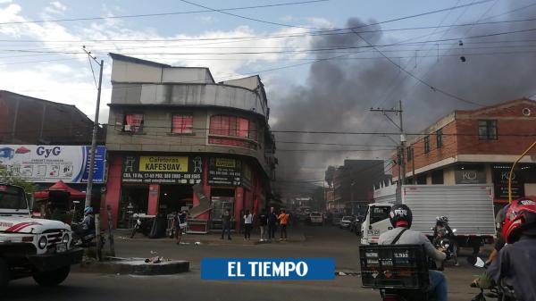 Trágica muerte de una persona en incendio en el centro de Cali - Cali - Colombia
