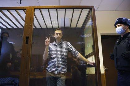 El líder de la oposición rusa Alexei Navalny en la audiencia de apelación este sábado en Moscú, Rusia. REUTERS / Maxim Shemetov