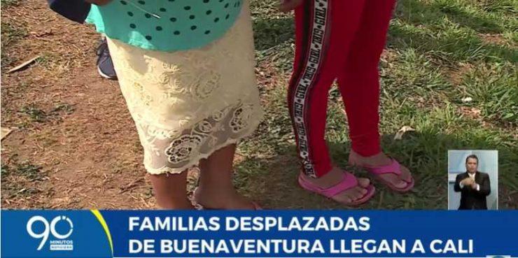 14 familias indígenas desplazadas de Buenaventura llegan a Cali