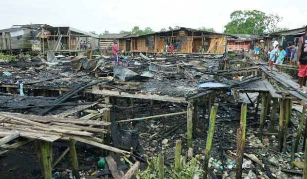 Incendio consume varias casas del barrio Pampalinda, en Buenaventura