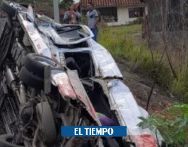 Accidente de tránsito deja nueve heridos en el Valle de Cauca - Cali - Colombia