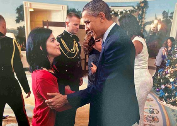 Así fue la reunión de la colombiana Lyda Vanegas con Joe Biden