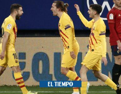 Barcelona vence a Osasuna 0-2 en la Liga de España - Fútbol Internacional - Deportes