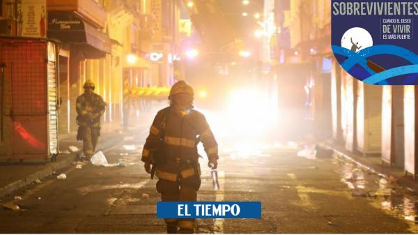 Cali: Bombero sobreviviente de incendio cuenta su historia - Cali - Colombia