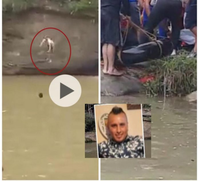 Diego ahogado en Cauca