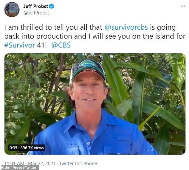 ¡Es hora de volver a!  Jeff Probst, de 59 años, anunció que su serie Survivor reanudaría el rodaje en Fiji poco después de retrasarse en marzo de 2020 debido a la pandemia de coronavirus.