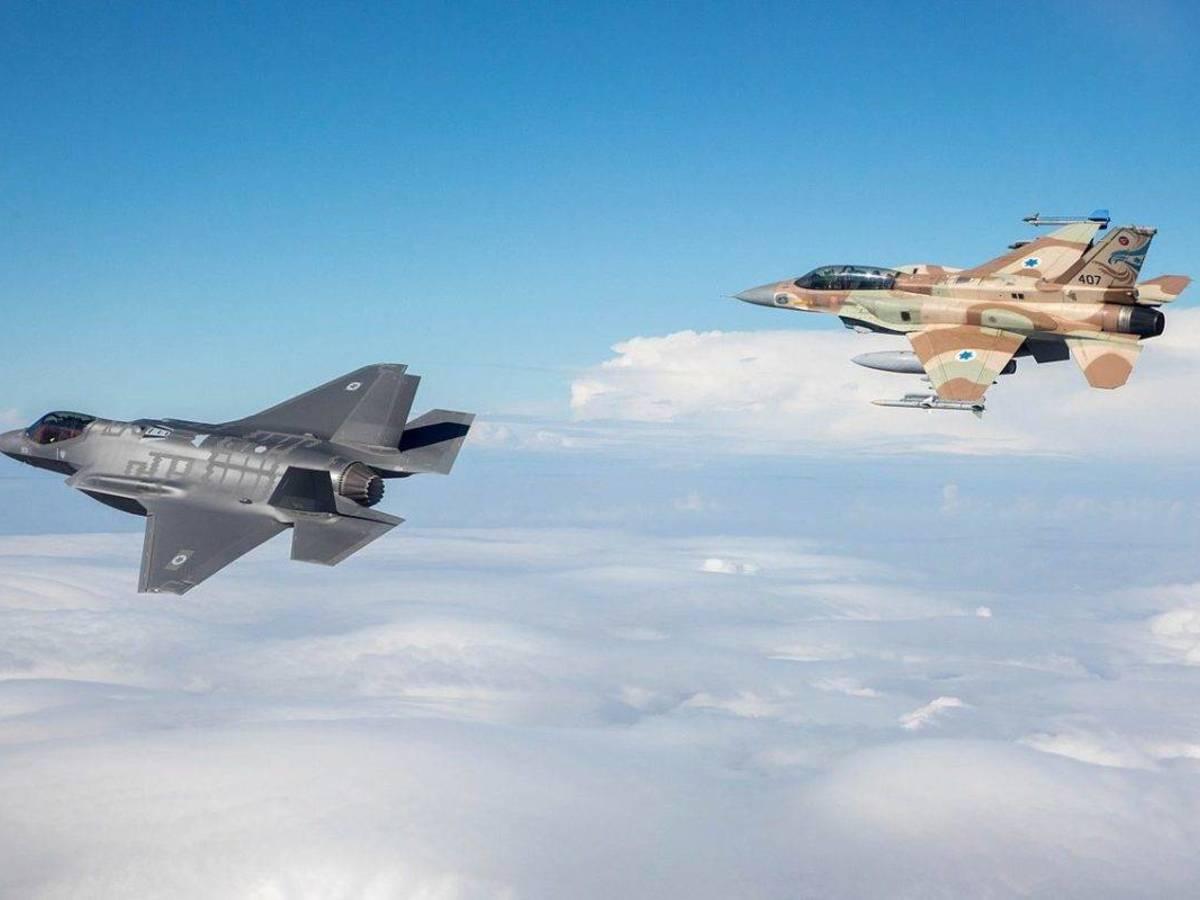 Foto: Aviones F-35 y F-16 de la aviación israelí (IAF)