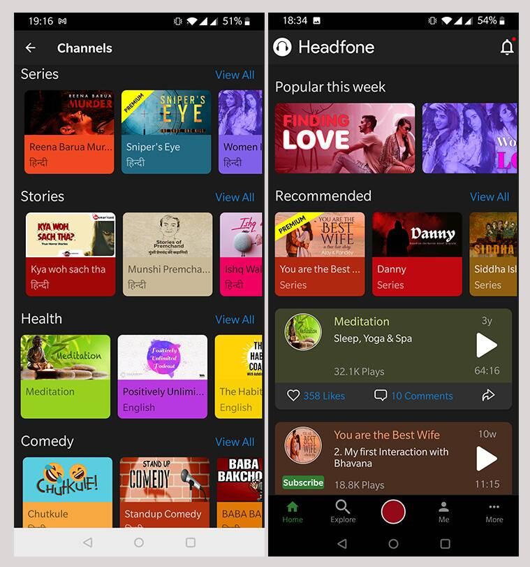 headfone, aplicación headfone, aplicación headfone, plataforma de narración de audio aplicación headfone Android, plataforma de narración de historias de audio headfone