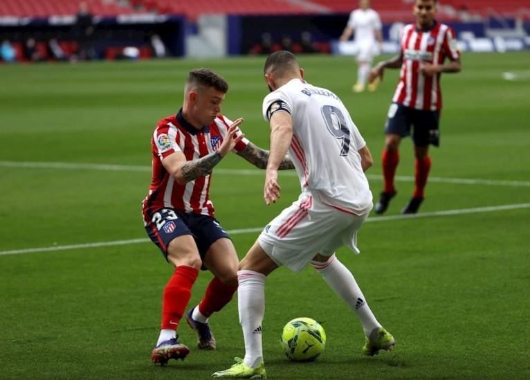 Intenso juego: Atlético vs Real terminaron iguales en el derbi de Madrid [VIDEO]