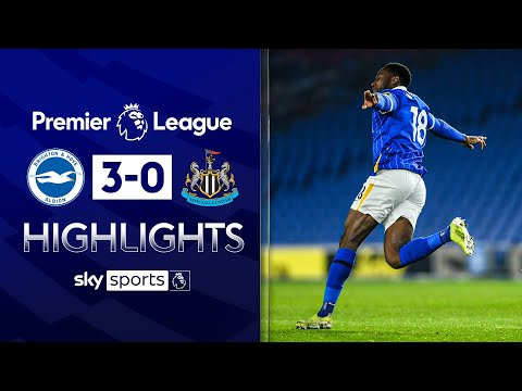Welbeck scores screamer in Brighton rout | Brighton 3-0 Newcastle | Premier League Highlights