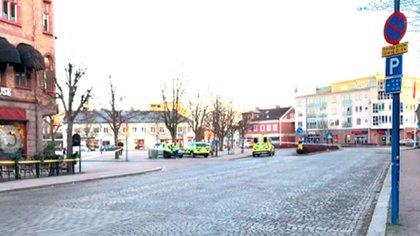 La zona del ataque terrorista en Suecia