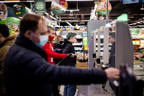 Pago por reconocimiento facial en supermercado de Rusia. Foto: AFP