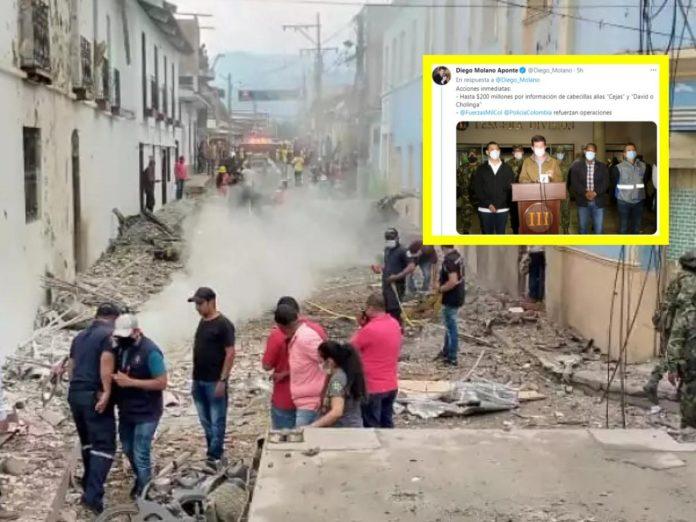 Tras el atentado en Corinto y la llegada al Cauca de Diego Molano, ministro de Defensa, se conoció que al menos ocho viviendas resultaron afectadas por el .