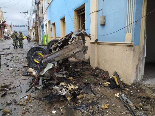 Moto-Bomba: Explosión frente a la sede de la alcaldía de Corinto, Cauca