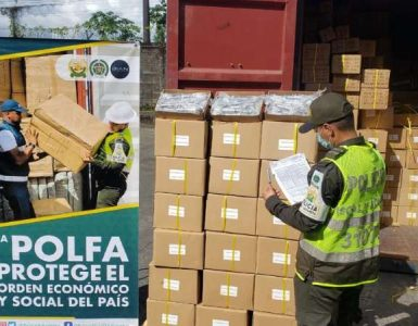POLFA BUENAVENTURA APREHENDIÓ UN CONTENEDOR EN BUENAVENTURA POR UN VALOR COMERCIAL DE 259 MILLONES DE PESOS
