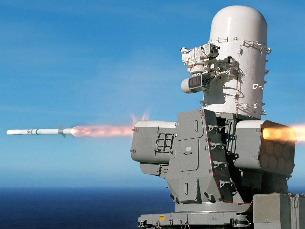 Foto: Sistema antimisil SeaRAM con lanzador de 11 misiles (Rytheon)