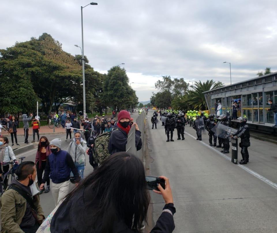 Así avanza la jornada de protestas en Bogotá | Economía