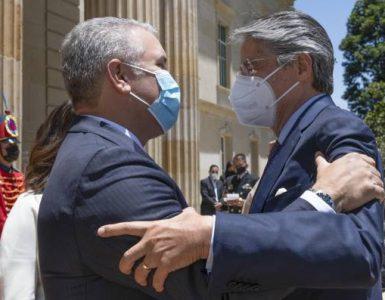 Así fue el primer encuentro entre Duque y el presidente electo de Ecuador, Guillermo Lasso