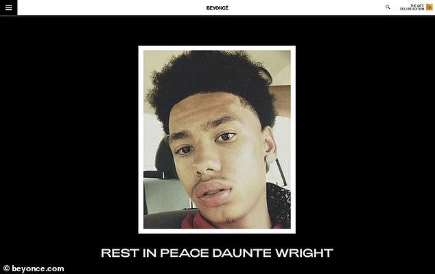 Lo último: Beyonce fue una de las celebridades que publicaron en las redes sociales sobre Daunte Wright, el hombre de 20 años que recibió un disparo mortal el domingo en Brooklyn Center, Minnesota.