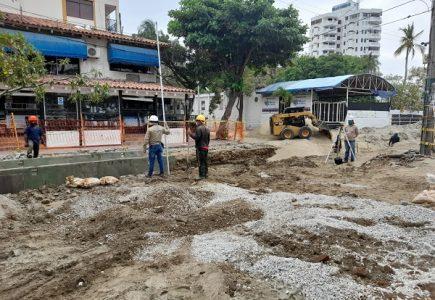 Edus supervisó la instalación de redes de acueducto y alcantarillado en El Rodadero